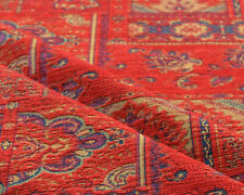 Ethnic fabric Kilim upholstery tapestry southwestern india decor textile red