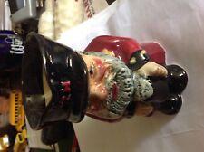 "Genuine Staffordshire Hand Painted Toby Jug Creamer 4"" tall"