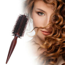 Curling Hair Teasing Brush Comb Wooden Handle Natural Boar Bristle Hairdressing
