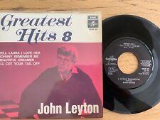 "John Leyton - Greatest Hits 8 / 7"" EP with 4 Tracks - 1. Swedish Pressing 1964 -"