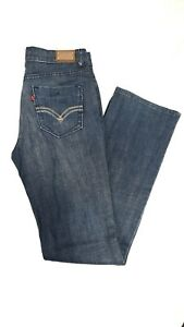 Levis White Womens Denim Jeans 854 High Rise Straight Blue Size W 15 L 34