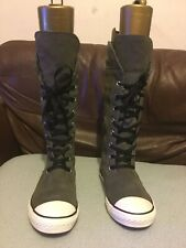 Converse All Star Womens Leather Gray Knee High Top Suede Trainers. RRP £175