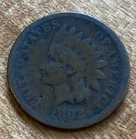 FREE SHIP! 1882 Indian Head Cent -130+ Year Old Penny - Old US Type Coin LT2