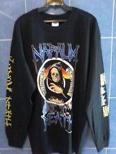 Napalm Death - U.S. Grind Crusher Tour 1991 - L/S Shirt [XL] - Death Metal - NEW