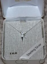 new Disney Park Authentic Sterling Silver 925 Tinker Bell Necklace Gift Box