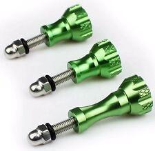 3x Aluminium Schrauben Grün 45mm / 60mm Zubehör passend für GoPro 5 6 und SJ4000