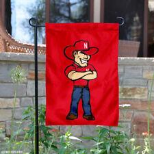 Nebraska Huskers Herbie Mascot Garden Flag and Yard Banner