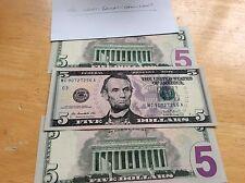 One Single Random 5 Dollar Bill Circulated Condition Five Bucks