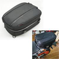 Universal Motorcycle Back Seat Package Helmet bag w/ waterproof cover & Sling