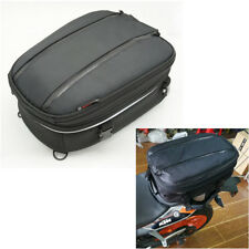 Universal Motorcycle Back Seat Package Helmet bag w/ waterproof cover & Sling