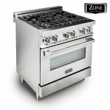 "Zline 30"" Stainless Steel 4.0 cu.ft. 4 Gas Burner/Electric Oven Range Ra30"