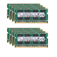 2GB 4GB 8GB 16GB DDR3 1333MHz PC3-10600 For Samsung Laptop Memory SODIMM Lot