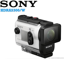 NEW Sony HDRAS300/W HD Action Cam GPS HDMI Underwater AS300 Camcorder - WHITE