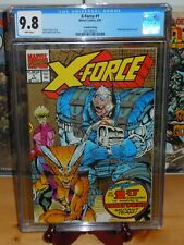 X-Force #1 CGC 9.8 Gold Ink 2nd Print Edition (Marvel Comics, 8/91) White pages