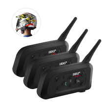 3Sets EJEAS V6 Pro 1200M Motorcycle BT Intercom FM Radio Helmet Headset MP3