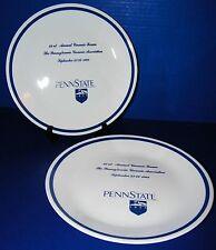 Corning Corelle Penn State University PA Ceramic Forum 2 Dinner Plates 1988
