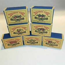 Matchbox Moko Lesney Script A Style Box set of 7 1st Issue empty Repro Boxes