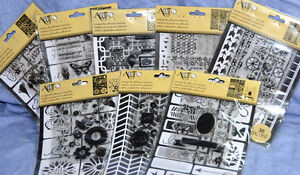 ART-C Clear Stamps & Stencil: many choices-you pick-combined shipping