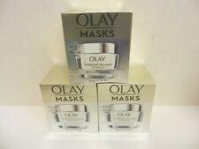 3 OLAY MASKS BRIGHTENING OVERNIGHT GEL MASK WITH VITAMIN C~1.7 OZ EACH~ 05/2022