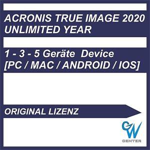 Acronis True Image 2020 [1 - 3 - 5 Geräte / Unbegrenzte Jahre] ORIGINAL Key