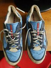 Prada Mens Tennis Shoes Size 9 Blue Lace up
