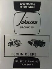 Johnson 10tc Amp 12a Front End Loader Lawn Garden Tractor Owner Amp Parts Manual