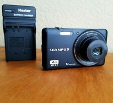 Olympus V Series VG-110 12.0MP Digital Camera & Charger - Black See Pictures