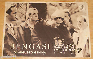fotobusta film BENGASI Augusto Genina Carlo Tamberlani 1942 WW2 Africa