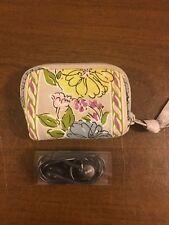 Vera Bradley Essentials Grey Green Purple Floral Small Headphones & Carry Pouch