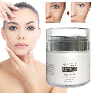Moisturizer Face Cream With 2.5% Active Retinol Hyaluronic Acid Vitamin E 50ml