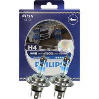 Philips Racing Vision H4 12V 60/55W P43t +150% 2 Stück Set Birne Lampe 12342RVS2
