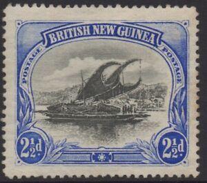 PAPUA(BNG) 1901-05 2.1/2d BLACK-ULTRAMARINE LAKATOI MH WMK HORIZONTAL SG.4