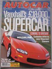 Autocar 3/12/1997 featuring Cevrolet Camaro Z28, Subaru, Porsche, Nissan