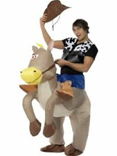 Smiffys Adult Unisex Ride EM Cowboy Inflatable Costume Funny Side Serious Fun