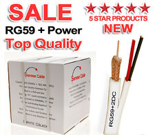 500FT SIAMESE CABLE RG59 VIDEO 20AWG 18/2 POWER SECURITY CAMERA WIRE CCTV BULK