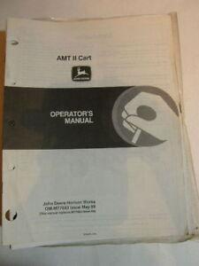 JOHN DEERE OPERATORS MANUAL AMT II CART ALL MATERIAL 88