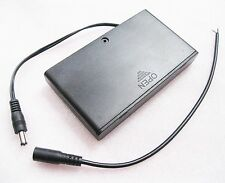 1 Battery Holder 8 AA Case 12V Switch DC 5.5mm Power Plug For CCTV Surveillance