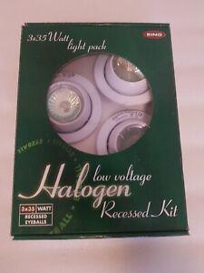 Ring 3 X 35 Watt Low Voltage Halogen Recessed Kit