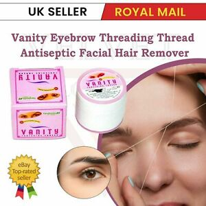 6x VANITY Antibacterial Eyebrow Threading Thread Facial Hair Removal Cotton UK