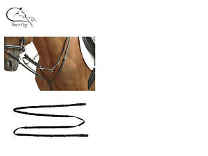 HKM LEATHER MARKET HARBOROUGH with REINS black PONY COB/FULL Free Delivery