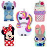 3D Cartoon Soft Silicone Gel Phone Case Cover Shell Skin For various LG Samsung