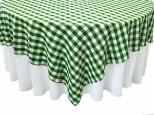 Tablecloth Square Checkered for Wedding, Party Rental, variety sizes & colors