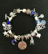 DISNEY STAR WARS Inspired European Charm Bracelet~check out characters! OOAK