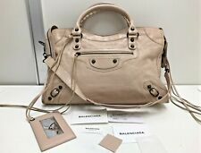 authentic Balenciaga motorcycle light pink classic city 2way shoulder hand bag