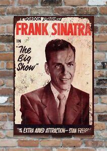 "FRANK SINATRA Concert poster, 10x8"" Retro Vintage Metal Advertising sign"