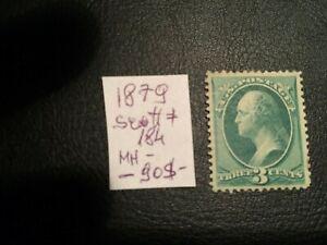 United States stamp 1887 Washington 3 vermilion Scott # 214 MH NG Rare