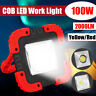 100W 2000LM USB Solar LED Work Light Rechargeable Emergency Flood Lamp W/ Stand