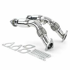 Racing stainless steel downpipe replacement pipes for Nissan 370Z from 09