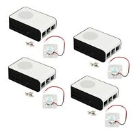 4xABS Case For Raspberry Pi 4 Model B Protective Shell Support Cooling Fan DC 5V