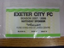 01/05/2008 BIGLIETTO: play-off SEMIFINALE Conferenza-Exeter City V Torquay United